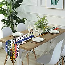Table Runner Modern Art,Seamless golden wire leaf