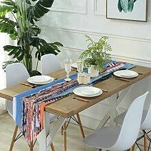 Table Runner Modern Art,Tennis Ball In Fire And