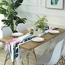 Table Runner Modern Art,Vibrant Colored Pattern