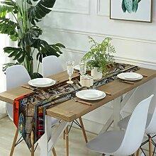 Table Runner Modern Art,Vintage Paris Chandelier