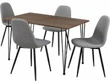 Table salle à manger aspect bois + chaise de