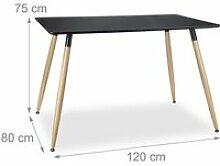 Table salle à manger salon style nordique 120 x
