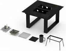 Table terrasse classique vulcano avec barbecue 6-8