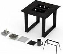 Table terrasse haute vulcano avec barbecue 6-8