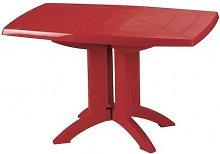 TABLE VEGA 118x77x72 cm coloris rouge bossa nova -