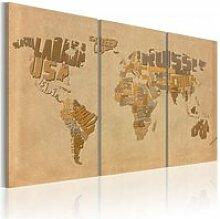 Tableau ancienne carte du monde A1-N2051-DKXPWD