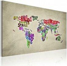 Tableau carte du monde en anglais A1-N2028PWD