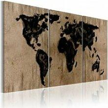 Tableau carte du monde en encre A1-N2025-DKXPWD