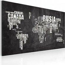 Tableau carte du monde en français A1-N2195PWD