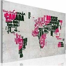 Tableau carte du monde en français A1-N2199PWD