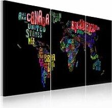 Tableau carte du monde texte A1-N2011PWD