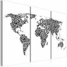 Tableau Cartes du monde Carte du monde en alphabet