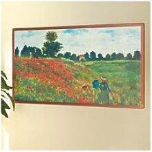 Tableau Coquelicots de Claude Monet avec chauffage