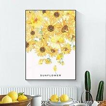 Tableau de tournesol plante, affiche d'art,