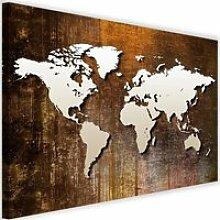 Tableau Décoration Murale Carte du monde 120x80