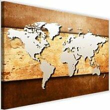 Tableau Décoration Murale Carte du monde 60x40 cm