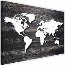 Tableau Décoration Murale Carte du monde Bois