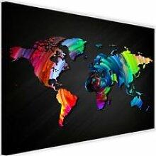 Tableau Décoration Murale Carte du monde colorée