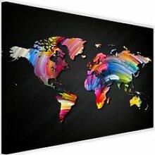 Tableau Décoration Murale Carte du monde Couleurs