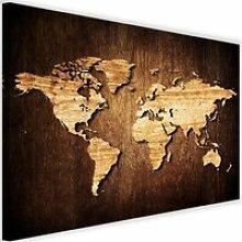 Tableau Décoration Murale Carte du monde Vieilles