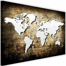 Tableau Décoration Murale Carte du monde Vintage