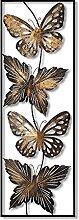 Tableau en métal 3D mural 100 x 35 cm Papillons