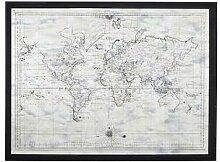 Tableau en verre imprimé carte du monde