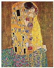 Tableau, Impression sur Toile - Le Baiser (Klimt)