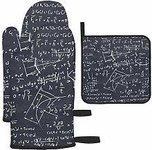 Tableau noir avec croquis mathématiques et