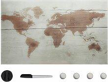 Tableau noir magnétique mural Verre 100x60 cm