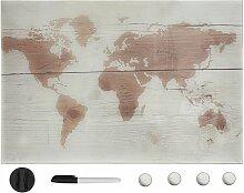 Tableau noir magnétique mural Verre 60x40 cm