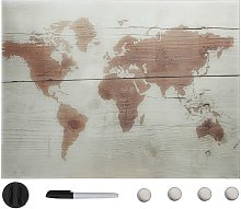 Tableau noir magnétique mural Verre 80x60 cm