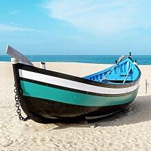 Tableau sur toile barque bleue 65x65cm