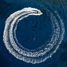 Tableau sur toile cercle marin 65x65cm