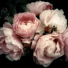 Tableau sur toile fleur romantique 65x65cm