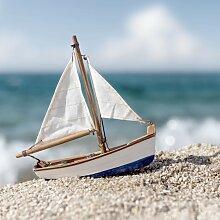 Tableau sur toile petit bateau 65x65cm