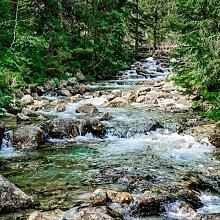Tableau sur toile rivière dans la forêt 65x65cm