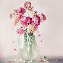Tableau sur toile roses et pétales 65x65cm