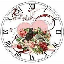Tableau-Toile,peinture diamant «fleur hibou ours