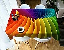 Tablecloth Rectangular Polyester Velvet Hemp