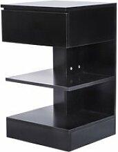 Tables de chevet ,table de nuit hombuy 1 pcs  noir