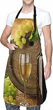 Tablier de cuisine réglable en verre de vin avec