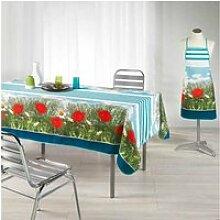 Tablier de cuisine stripe poppy bleu azur