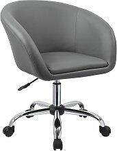 Tabouret à roulettes chaise rembourré cuir PU