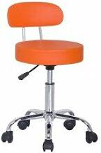 Tabouret à roulettes/de travail kopa 2 orange
