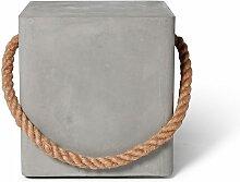 Tabouret à roulettes Edge en béton et corde