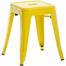 Tabouret au style  industriel armin , jaune