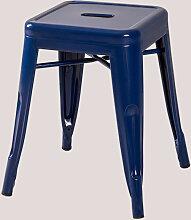 Tabouret bas en acier LIX Bleu Marin Acier - Azul
