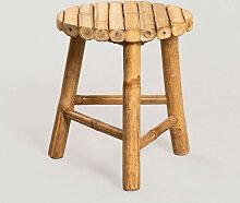 Tabouret bas en bambou Barlou Bambou Bambou -