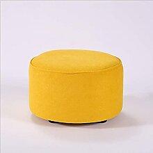 Tabouret bas en bois massif pour canapé ou salon